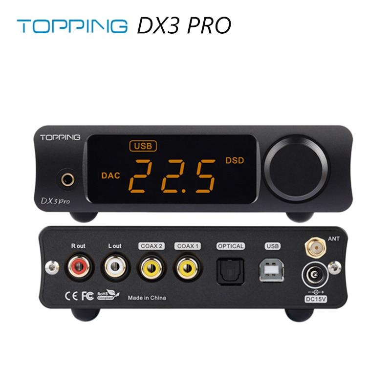 TOPPING DX3 Pro LDAC Edition AK4493 TPA6120A2 Hifi USB Bluetooth DSD512 DAC Headphone Amplifier