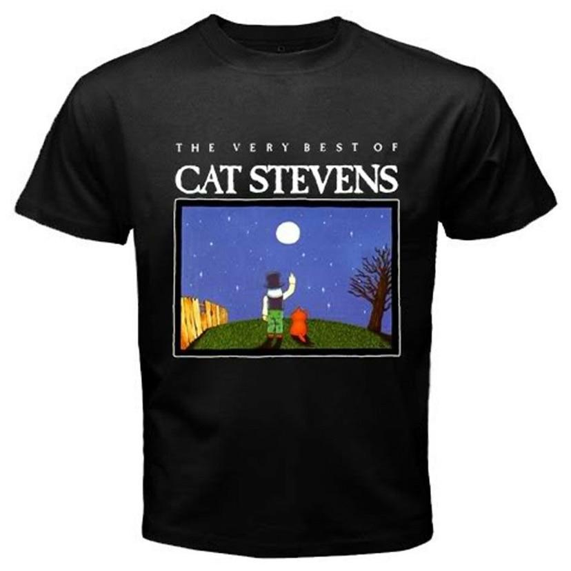 Camiseta Vintage Cat Stevens para hombre, camiseta de música Pop Rock Unisex, S-3Xl, nueva camiseta de manga corta