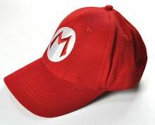 Casquette de baseball pour enfants et adultes   Couleur unie, réglable, taille hip hop avec lettres, casquette de super Mario brothers, casquette rouge, pour anime cosplay