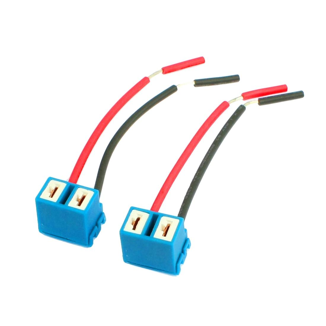 X autohaux 2 pçs tomada angular h7 extensão cerâmica farol lâmpada conector wirings arnês