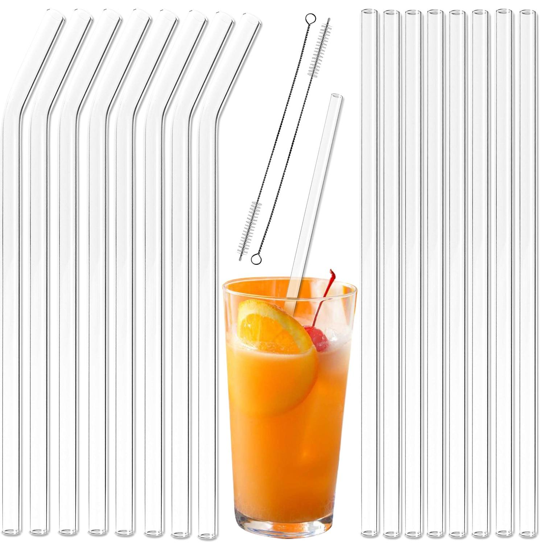 Большие Экстра широкие соломенные смузи стеклянные соломинки многократного использования длинные соломинки для питья для Смузи Молочные коктейльные соломинки