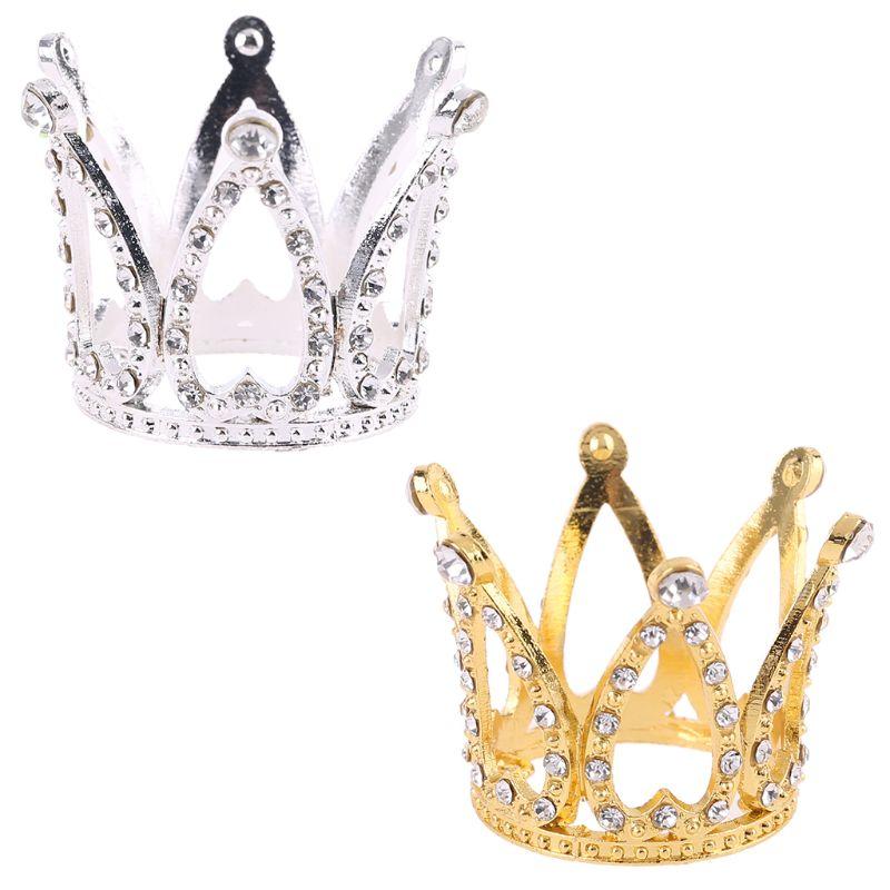 Bebé corona foto fotografía accesorios diadema anillo Mini decoración recién nacido niñas princesa Memorial cumpleaños diadema de fiesta