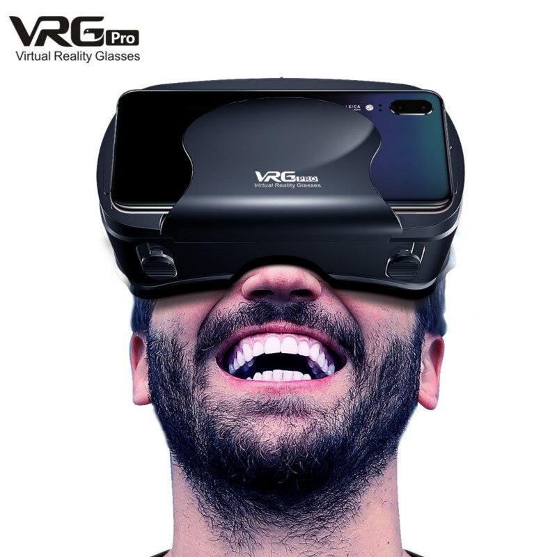 Novo vrg pro 3d vr óculos de realidade virtual tela cheia visual grande-angular vr óculos para 5-7 Polegada smartphones dispositivos vr óculos