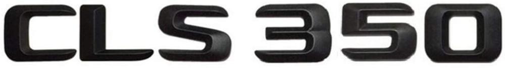 Матовая черная наклейка CLS на багажник автомобиля, 350 дюйма, с надписью на заднюю часть багажника, значок с надписью, эмблема, наклейка для ...