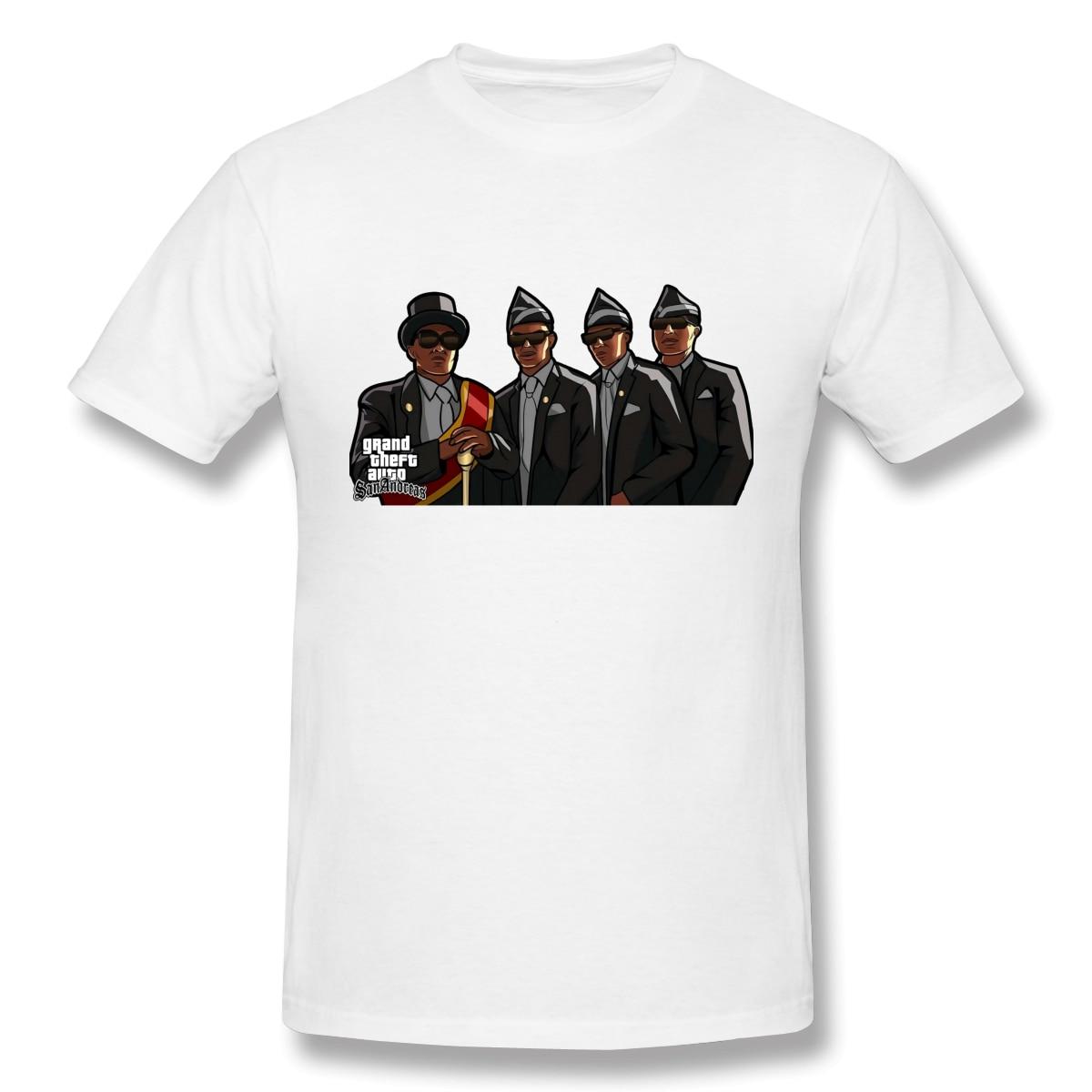 Coffin Dance Funeral Dance с шкатулкой Meme, Мужская футболка, повседневные мужские топы, Мужская одежда, уличная футболка, Мужская футболка, белая футбол...