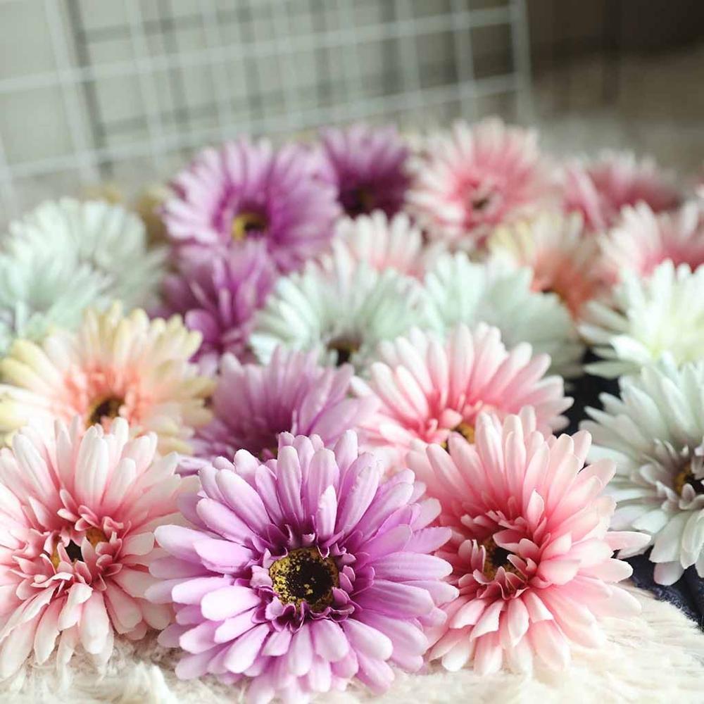 NUEVA CASA, cabeza de crisantemo para el hogar, simulación de flores, decoración del hogar, boda, sujeción de pared de flores, planta de flores falsas