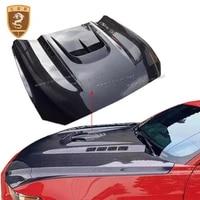 carbon fiber engine hoods cover for ford mustang 2015 2016 fiber car front bonnet hood cover
