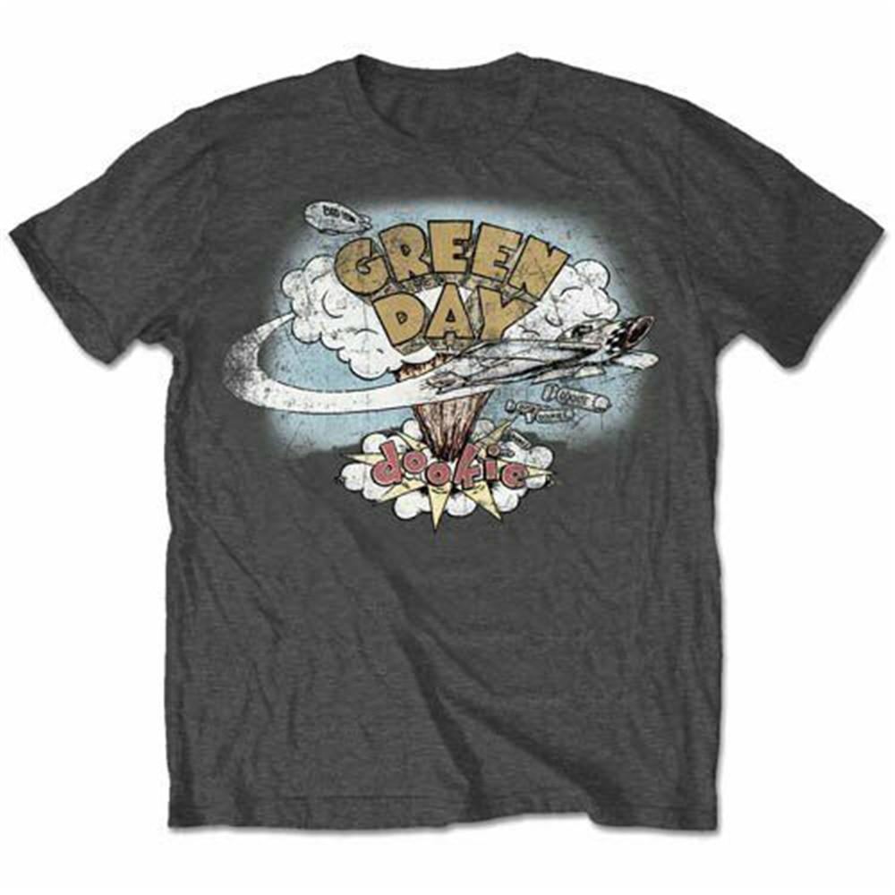 Grün Tag Dookie Vintage T Shirt Unisex T Lizenzierte Band Merch Mode Cool Tee Shirt