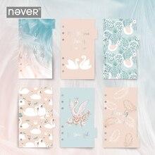 Never Swan série planificateur Index Pages 6 trous feuilles mobiles carnet diviseurs signets Filofax agenda accessoires cadeau papeterie