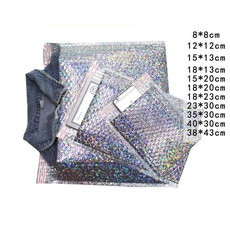 wholesale laser silver CD/CVD Packaging Shipping Bubble Mailers paper Padded Envelopes Gift Bag Bubble Mailing Envelope Bag