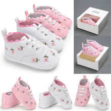 Baby Baby Schoenen Meisje Bloem Soft Sole Crib Peuter Zomer Prinses Sneaker Schoenen Casual Schoenen 0-18M