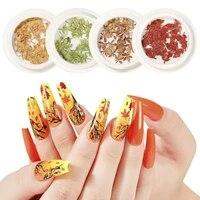 manicure wood pulp maple leaf color film diy color leaf maple leaf three dimensional maple leaf manicure paste nail supplies