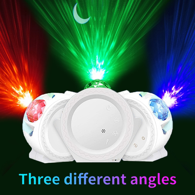 Smart Starry Sky Projector Galaxy Projector 3in1 Night Light Ocean Voice Music Control LED Lamp For Kid Gift Smart Life enlarge