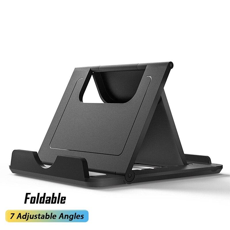 Soporte plegable para teléfono móvil, base de escritorio ajustable para iPhone, iPad...