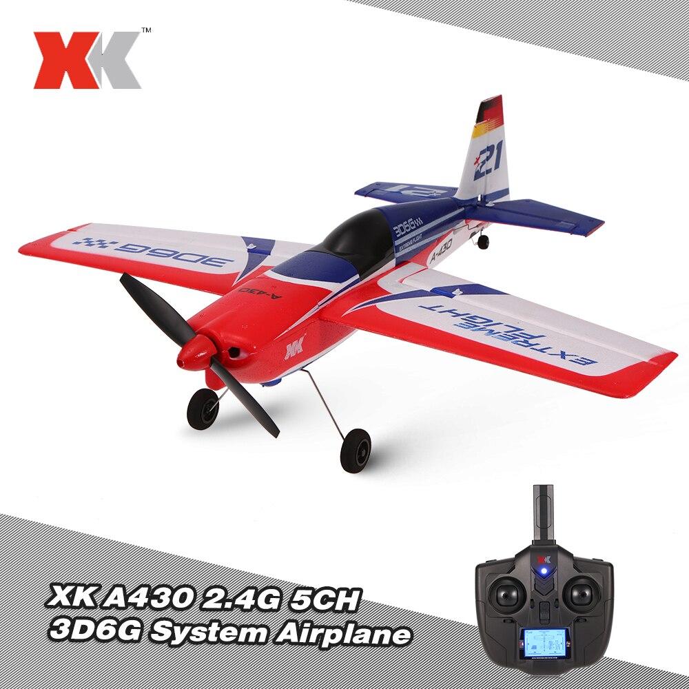 2019 Wltoys XK A430 2,4G 5CH Motor sin escobillas 3D6G sistema RC avión 430mm envergadura EPS aviones Compatible S-FHSS avión rtf