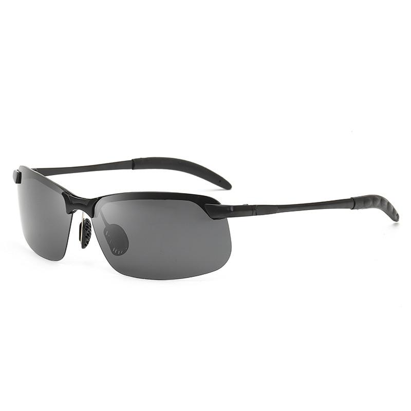 Reflective Lenses Sun Glasses Men Sun Glasses Driver Sunglasses Metal Half-frame Fishing Glasses Anti-glare Goggles