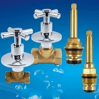 angle valve straight through valve quick open slow open copper spool brass water stop valve inner wire triangle valve faucets