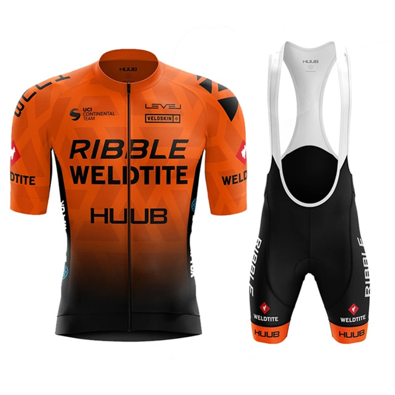 HUUB cycling Jersey suit Team Ribble Weldtite Bike Jersey Set  Summer Men clothing Short Sleeve Shirts Mtb Maillot Ropa Ciclismo