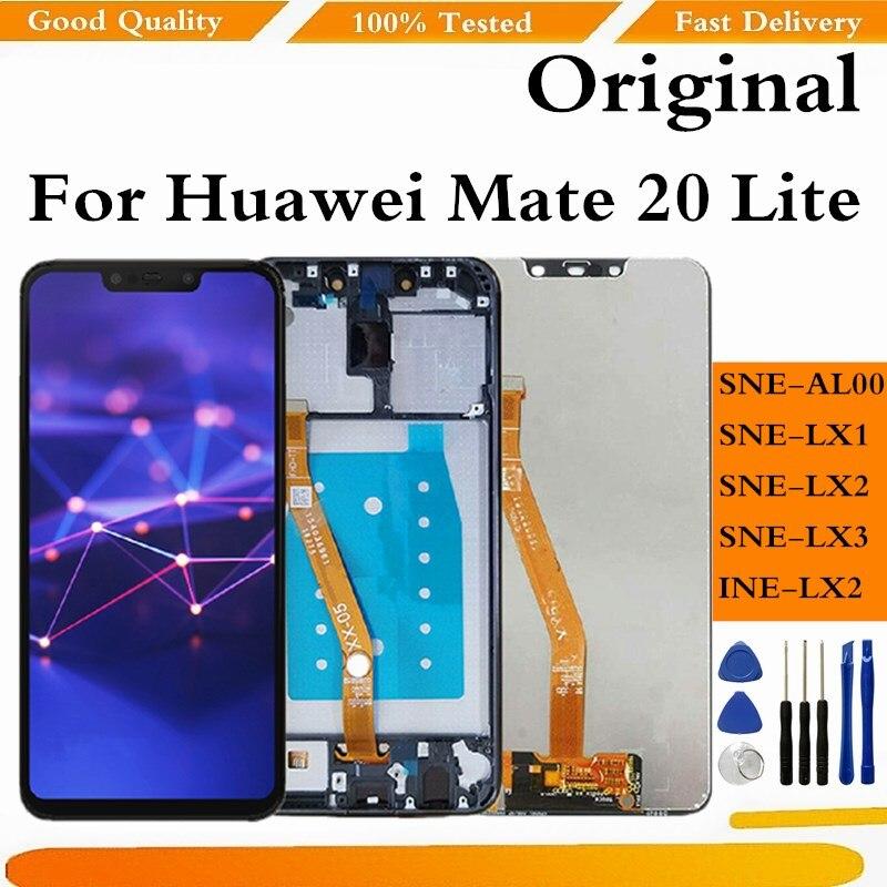 الأصلي لهواوي ماتي 20 لايت شاشة LCD تعمل باللمس محول الأرقام الجمعية Mate20 لايت عرض مع استبدال الإطار