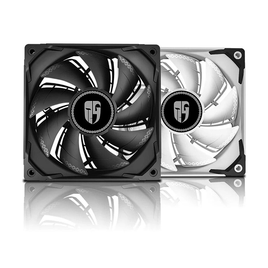 [해외] DEEPCOOL TF120S 흑백 CPU 컴퓨터 케이스 냉각 팬 4PIN PWM CPU 액체 냉각기 120MM 조용한 냉각 팬