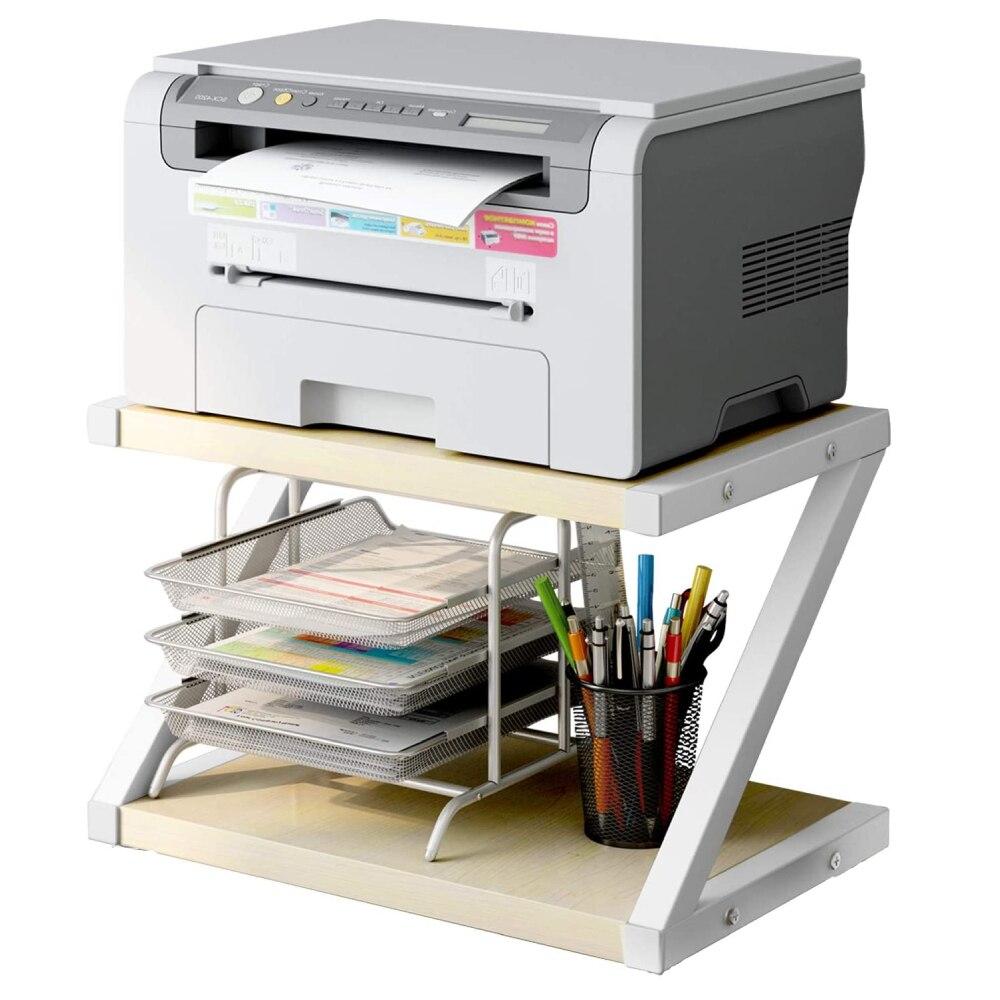 Desktop Stand for Printer - Desktop Shelf as Storage Shelf, Book Shelf, 2-Tier Tray with Hardware & Steel