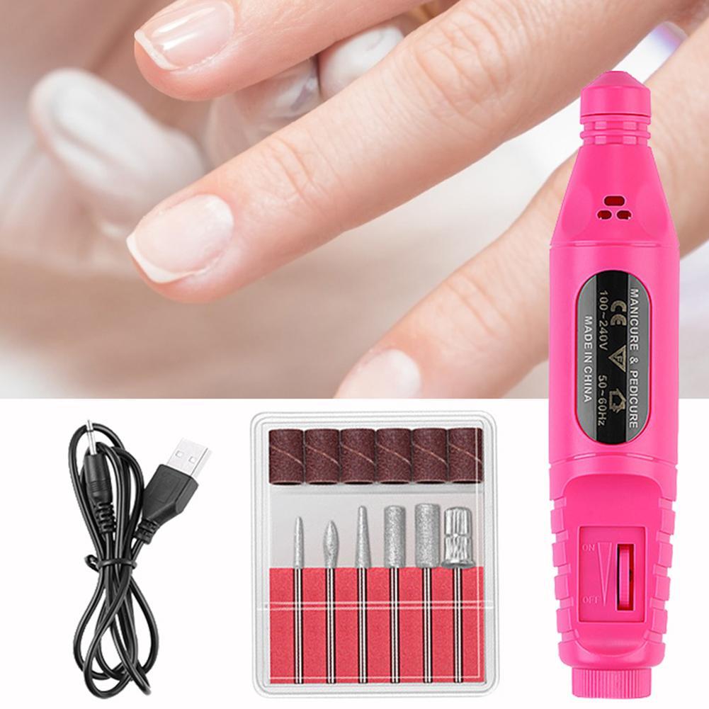 Kit de máquina pulidora eléctrica profesional de uñas, máquina de manicura, bolígrafo de Arte para uñas, Kit de herramientas de decoración de uñas, Gel removedor