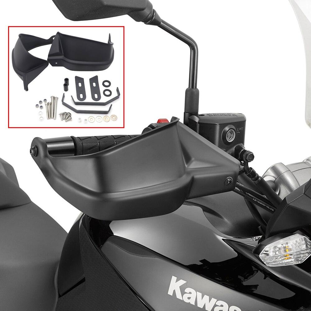 أسود دراجة نارية Handguards اليد حماة لكاواساكي Z900 2017 Versys 650 2020-2008 2019 2018 2017 Versys 1000 2017-2012