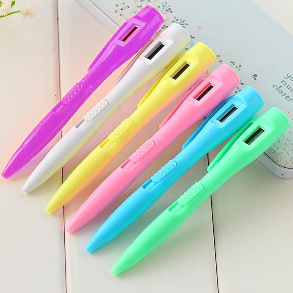 Электронное перо цифровые часы шариковая ручка студенческий экзамен ручка школьные парфюмерией подарок Пенне swaroski canetas канцелярия