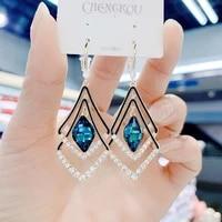 womens jewelry earrings 2021 womens geometric red blue earrings dangling earrings dangling earrings modern womens jewelry