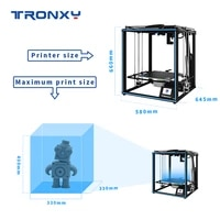 x5sa pro full metal frame high precision 3d printer diy kit with automatic leveling function and double axis external guide rail