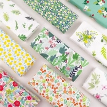 100% cotton printed fabric diy sewing fabric for home textile bedding sheets baby dress DIY manual w