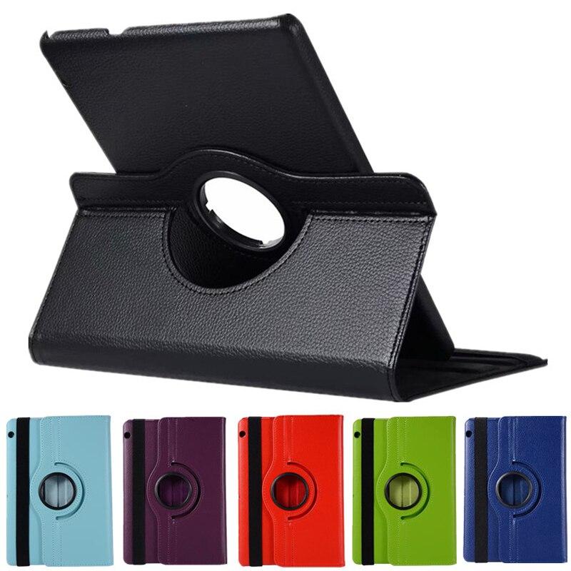 Couro do plutônio capa protetora tablet caso 360 girando flip suporte para huawei mediapad t5 10 nk-compras
