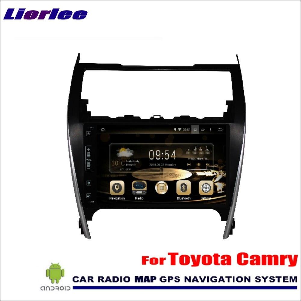 Liorlee para Toyota Camry 2012-2014 europea de coche Android Radio reproductor de Audio GPS Navi navegación mapa Multimedia estéreo (sin CD DVD)