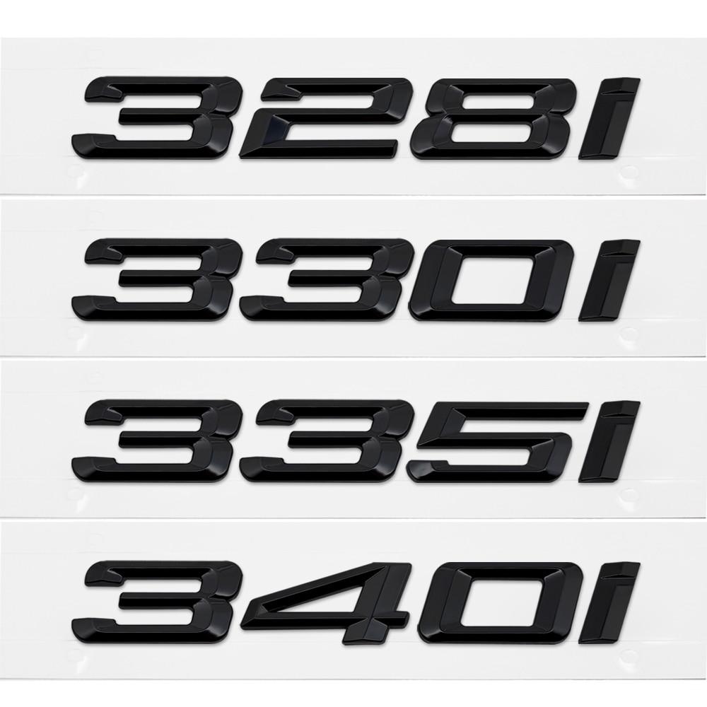 Metal/Plastic Car Styling Auto 3D Letter Trunk Rear Sticker Emblem Decal for BMW 328i 330i 335i 340i 3 Series GT X3 Z3 E39 E38