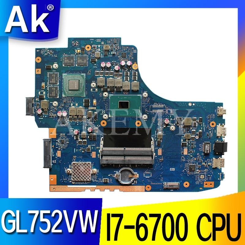 Placa base ROG GL752VW con placa base I7-6700CPU N16P-GX-A1, placa base para portátil ASUS GL752V GL752 FX71PRO