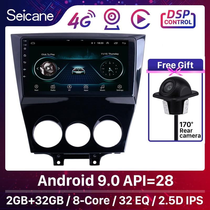 Seicane Android 9,1 9 pulgadas para 2003-2010 Mazda RX8 Radio sistema de navegación GPS con Bluetooth soporte Carplay cámara de respaldo