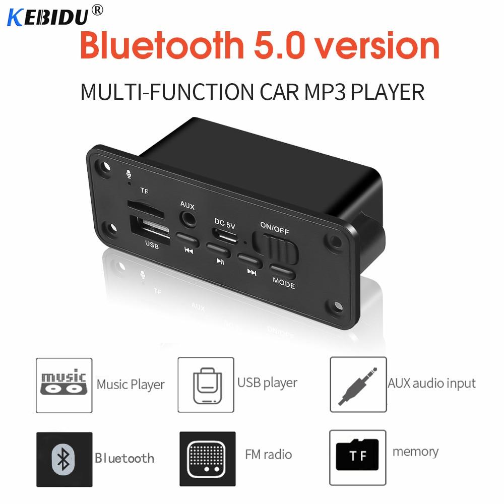 Placa decodificadora kebidu MP3 Bluetooth, módulo de Audio inalámbrico de 5V para coche, Mini CD manos libres, WMA, USB, FM, TF, Radio para coche, accesorios MP3