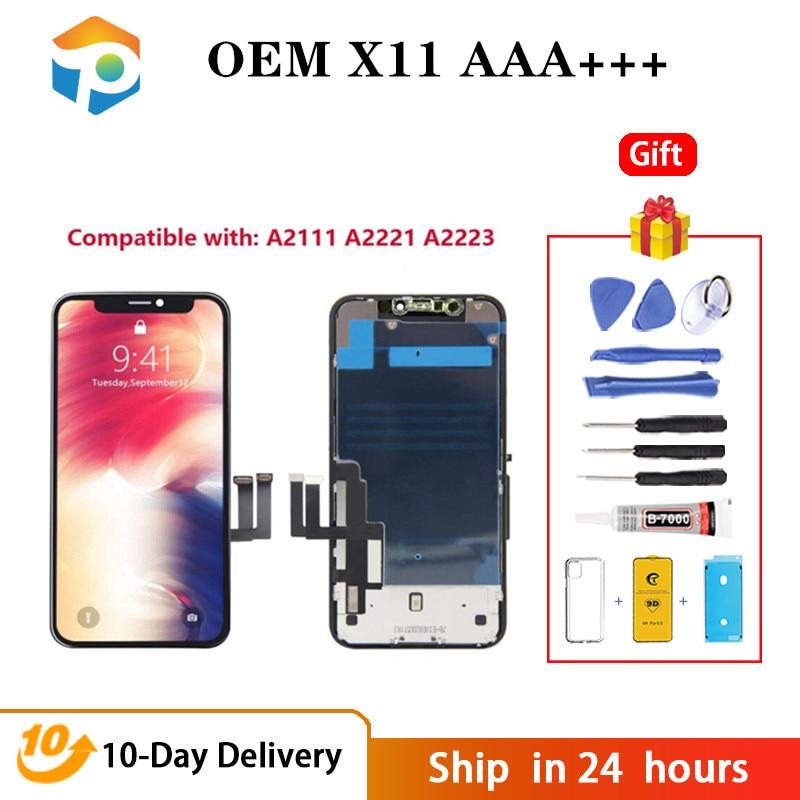 الصف AAA + + OEM آيفون 11 LCD OEM العرض مع شاشة تعمل باللمس ثلاثية الأبعاد محول الأرقام الجمعية لاستبدال iPhone11 LCD