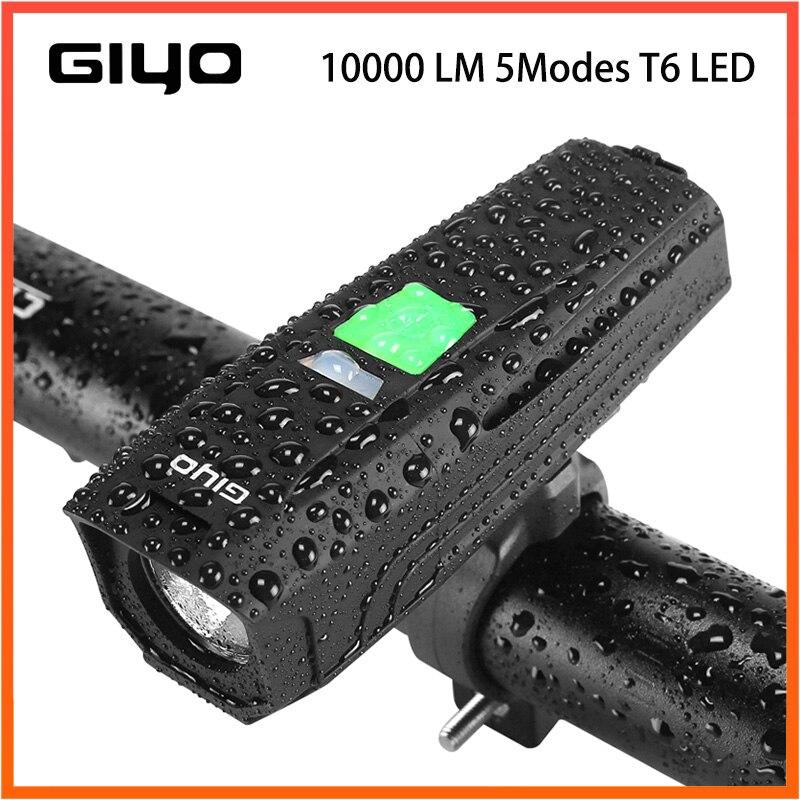 Fiets Licht 10000 LM 5 Modi T6 LED Fietsen Voor USB Zaklamp Waterdicht Zaklamp Door 18650 batterij Met Achterlicht
