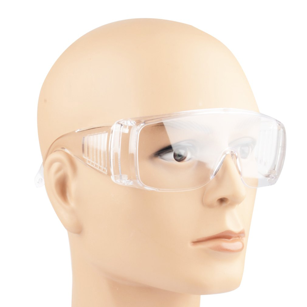 Safety Glasses Lab Eye Protection Protective Eyewear Clear Lens Workplace Safety Goggles Anti-dust Supplies