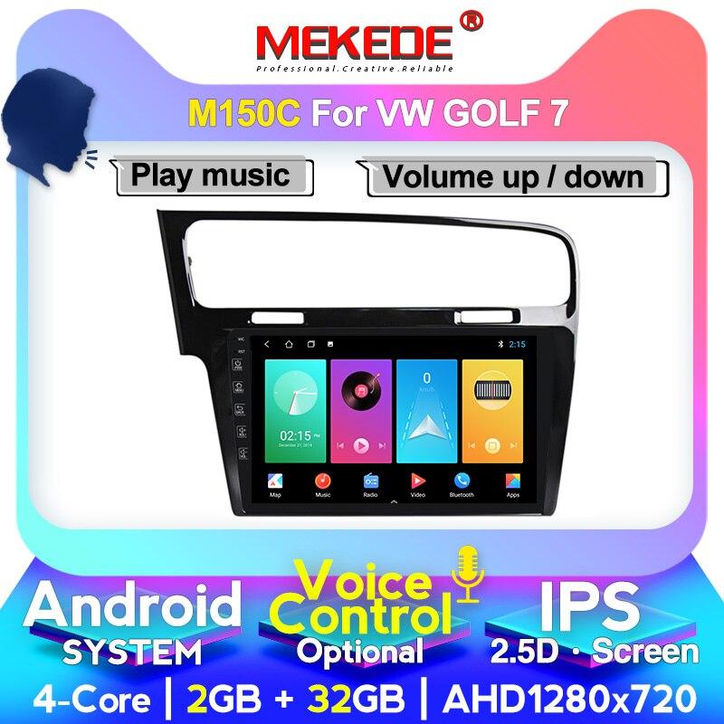 MEKEDE Automotivo Radio para VW/Volkswagen Golf/7 GPS coche reproductor Multimedia Octa Core RAM 4GB ROM 64GB DVR FM DSP