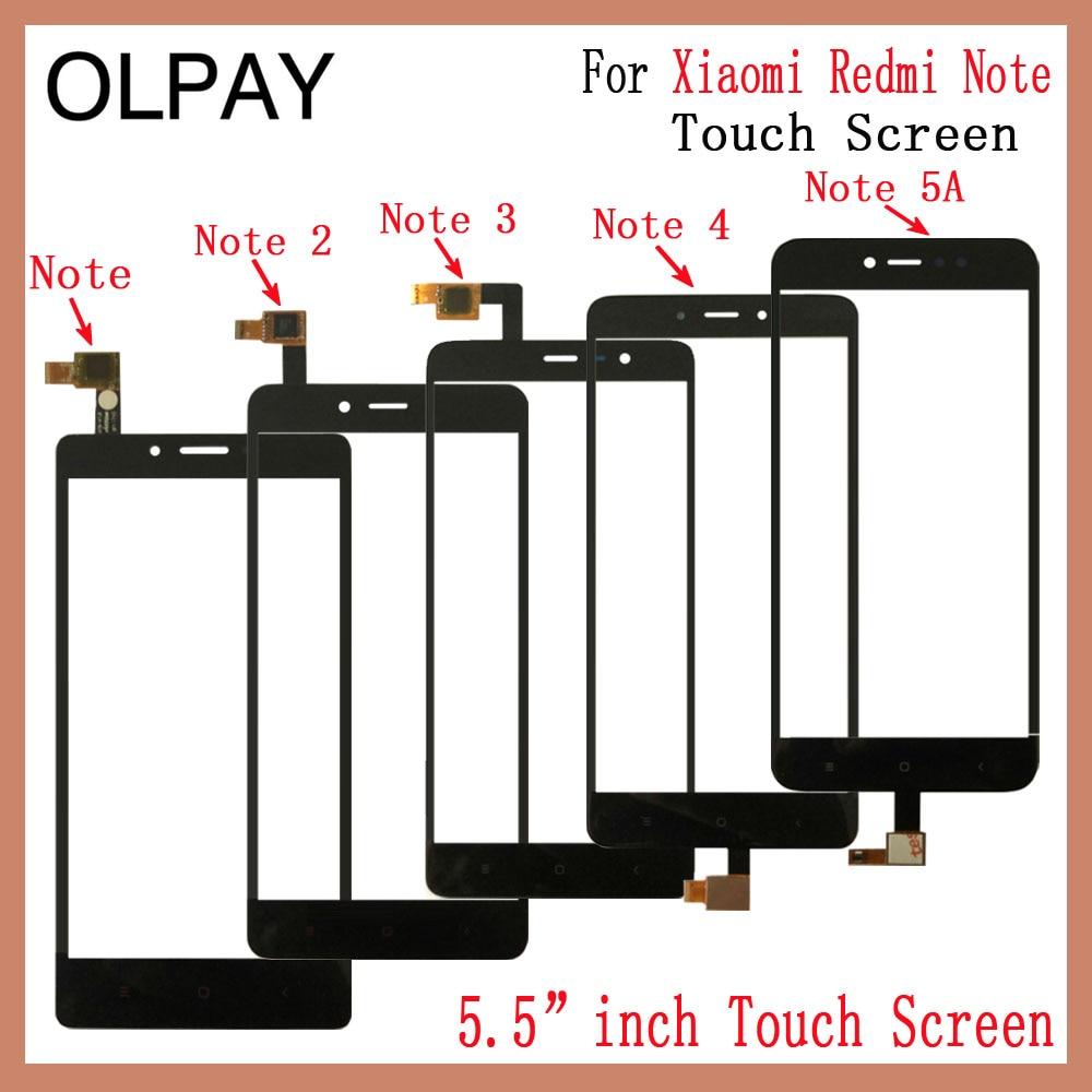 Mobile Phone 5.5'' inch Touch Screen For Xiaomi Redmi Note 1 Note 2 Note 3 Note 4 Note 5A Touch Glass Digitizer Sensor Repair