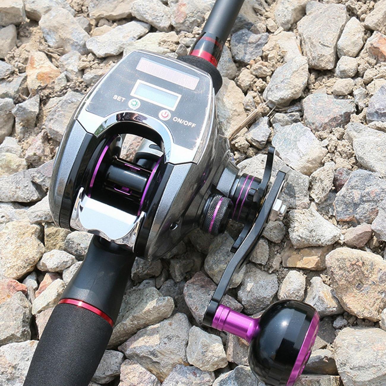 Solar Powered Fishing Reel Rechargeable Digital Display Baitcasting Reel Professional Spinning Fishing Reel enlarge