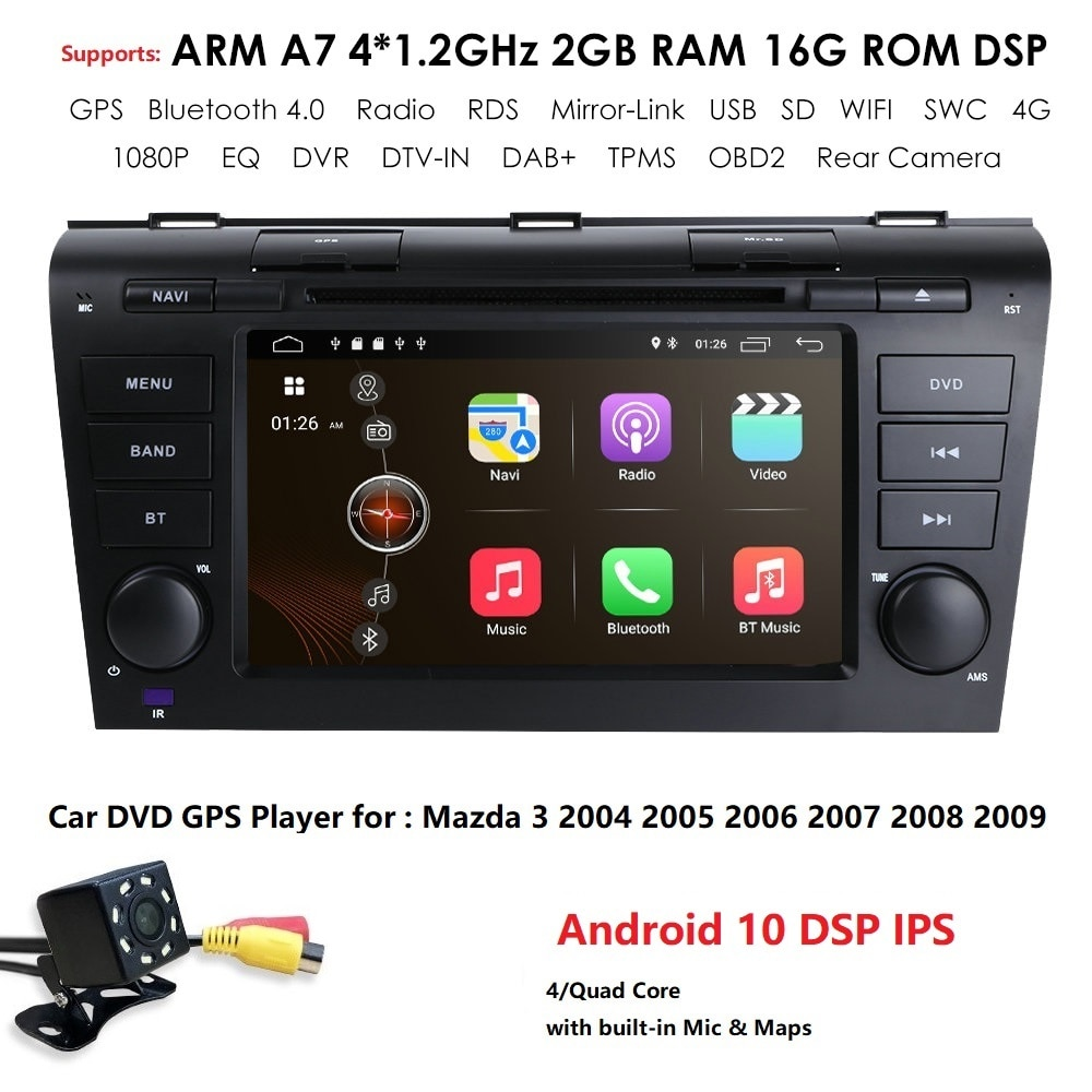 Dvd stéréo Android 10 GPS pour mazda 3 mazda3   7/8
