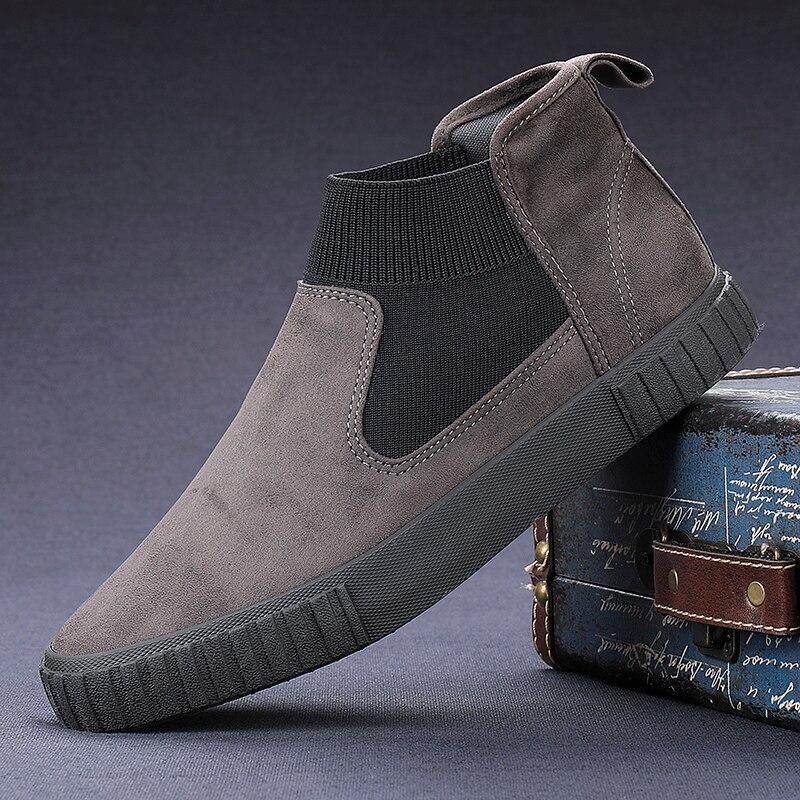 حذاء موكاسين من الجلد المدبوغ للرجال ، حذاء كاجوال مريح ، كلاسيكي ، عصري ، خريف