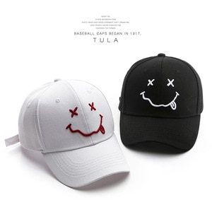 Hat Fashion Popular Smiling Face Embroidery Baseball Cap Outdoor Sports Travel Casual Peaked Cap Spot Hat Men