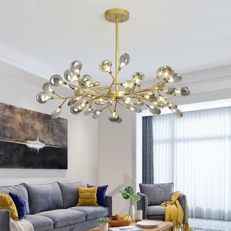 Современная Потолочная люстра цвета черного золота, люстра, Потолочная люстра с деревом, декор для гостиной, столовая, гостиница, холл, Арт, ...