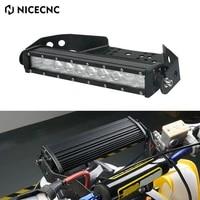 nicecnc 50w 4500 lumens 10 inch atv front fender headlight mount mounting brackets stay for yamaha polaris cam can universal