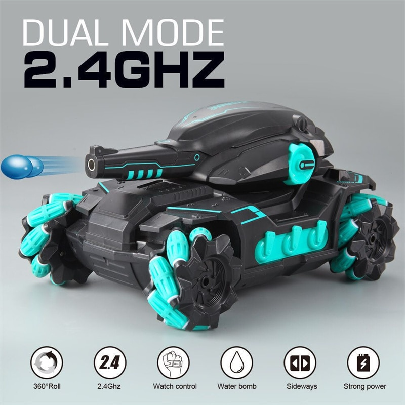 XCZJ Remote Control Stunt Car Driving Drift In All Directions 80M Distance 35min Endure Launch Water Bomb Car Children RC Toy enlarge