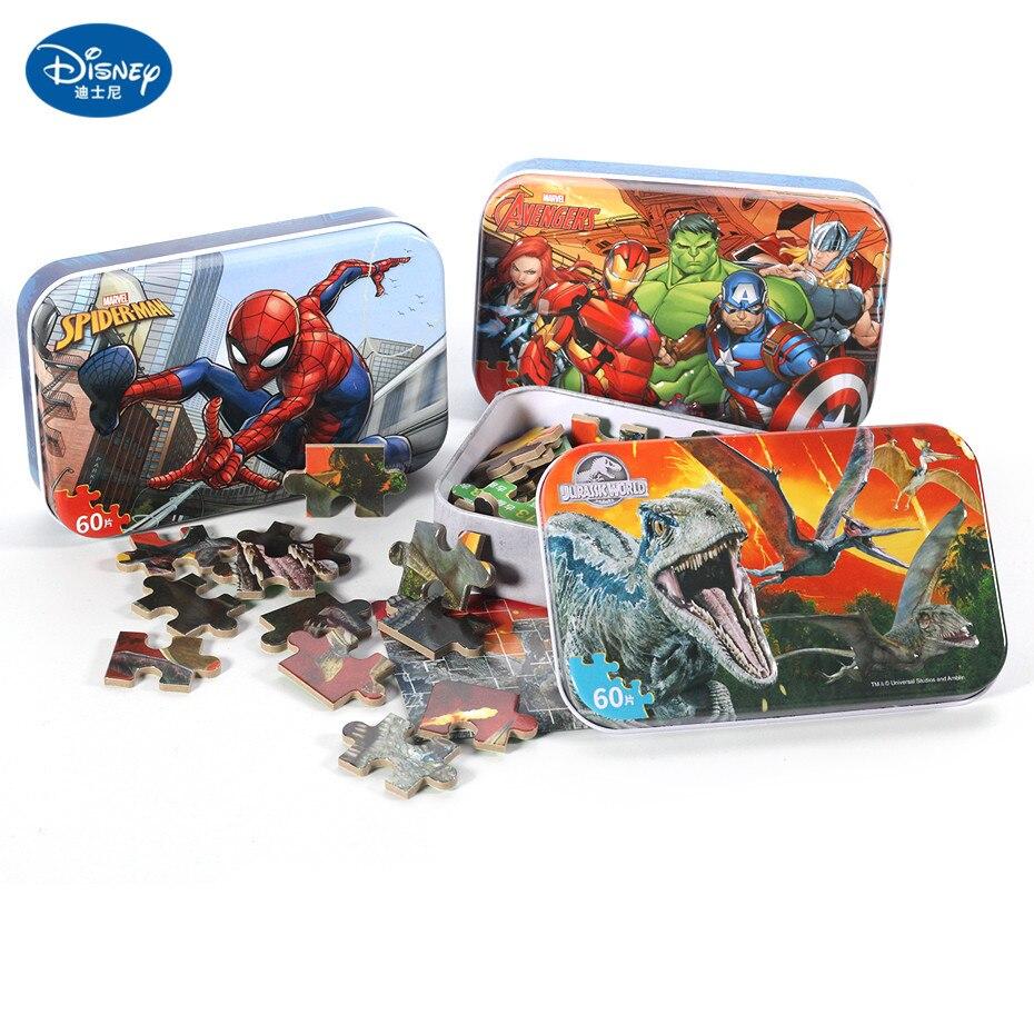 Puzzle Disney, Frozen Mickey, Minnie, Sofía, ratón, sirena, pato, 60 uds., juguetes educativos de madera interesante para niños